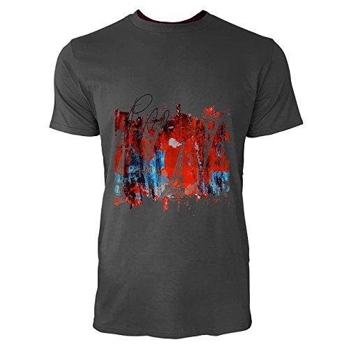 SINUS ART® Eiffelturm in Vintage Pop Art Herren T-Shirts in Smoke Fun Shirt mit tollen Aufdruck
