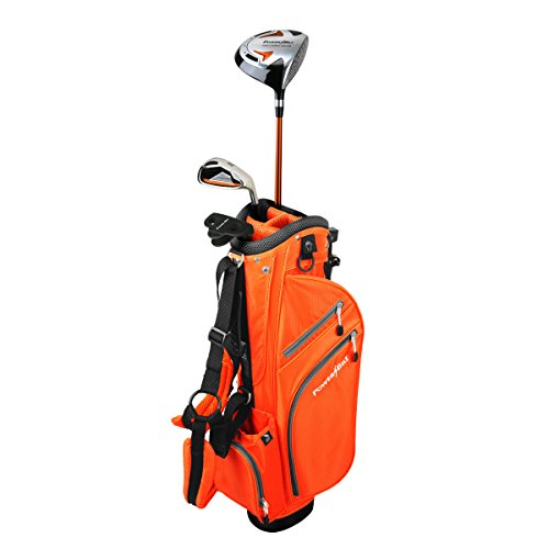 PowerBilt Junior Kids Boys Ages 3-5 Golf Club Set, Right Hand, Orange