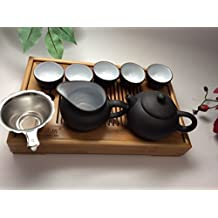 MusicCityTea Yixing Tea Set 15pcs with Small Tea Tray Great deal good starter set By Music City Tea