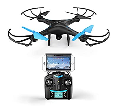 U45 Blue Jay WiFi FPV Quadcopter Drone w/ HD Camera, Altitude Hold, and Live Video Plus Remote Control | Easy to Fly for Expert Pilots & Beginners | Great Gift Idea by Force1RC by UDIRC