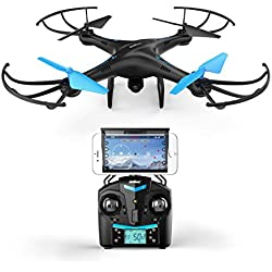 U45 Blue Jay WiFi FPV Quadcopter Drone w/ HD Camera, Altitude Hold, and Live Video Plus Remote Control | Easy to Fly for Expert Pilots & Beginners | Great Gift Idea by Force1RC
