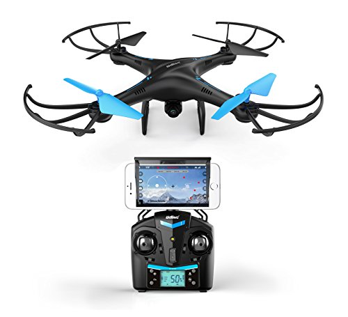 Drones with Camera for Adults or Kids - U45W Blue Jay WiFi FPV Drone with Camera for Beginners, HD VR Drone Flying...