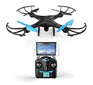 Force1 U45W Blue Jay WiFi FPV Quadcopter Drone with HD Camera, Altitude Hold, and Live Video Plus Remote Control