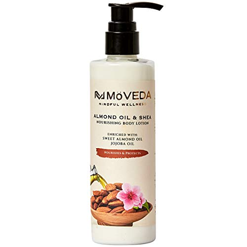MoVEDA Nourishing Almond Oil & Shea Body Lotion  100% Natural Extracts, Vegan, No SLS, Parabens & Silicones    250 ml