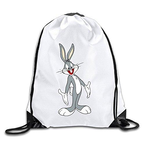 Miley Bunny Costume (Runy Custom Bugs Bunny Adjustable String Gym Backpack White)