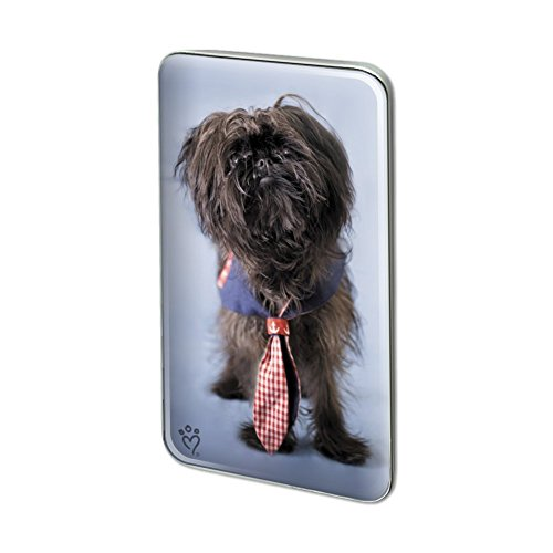 GRAPHICS & MORE Affenpinscher Puppy Dog with Tie Metal Rectangle Lapel Hat Pin Tie Tack Pinback