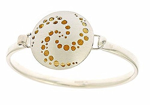 Sterling Silver and 22KT Gold Bangle. Made in England (22kt Bracelet Gold)