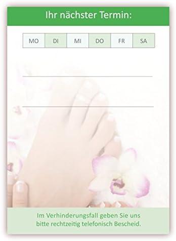 Premium Terminblock Set Fusspflege grün (24 Stück) - Hochwertige Terminblöcke für Ihre Kundentermine mit je 50 Terminblättern pro Block