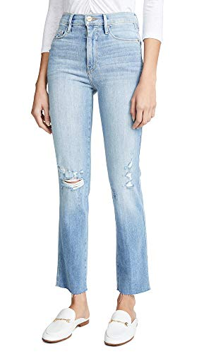 FRAME Women's Le Sylvie Raw Edge Jeans, Overdrive, Blue, 31 (Best Overdrive For Blues)