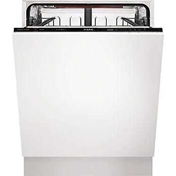 AEG F55610VI1P Totalmente integrado 13cubiertos A+ lavavajilla - Lavavajillas (Totalmente integrado, Negro, Botones, Frío, 13 cubiertos, 47 dB): Amazon.es: ...