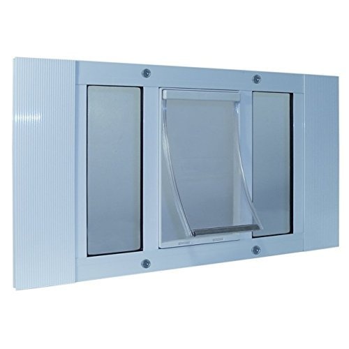10.5 in. x 15 in. Extra Large Plastic Frame Door for Inssizetion Into 27 to 32 in. Wide Sash Window by Ideal Pet Products