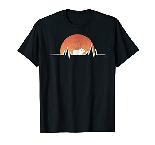 Cool Pig - Guinea Pig T Shirt Retro Sun Heartbeat Cool Animal Gift