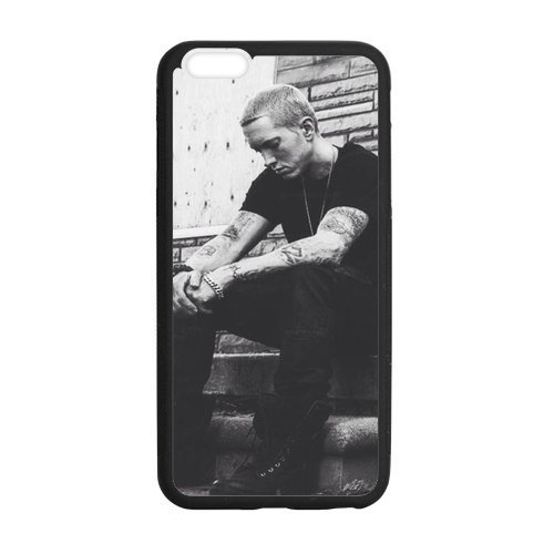 """FEEL.Q- Eminem Singer Star Protective iPhone 6 Plus Hard Rubber Case (For iPhone 6Plus 5.5"""" Only)"""
