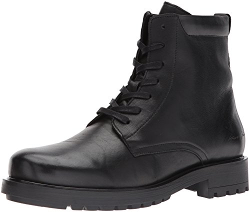 Armani Jeans Mens Chunky Leather Lace up Fashion Boot Nero