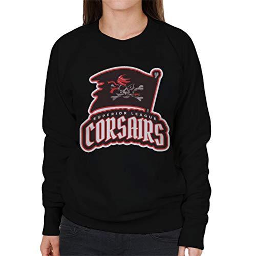 And And Crossbones Emblem Flag City Women's League Cloud Cloud Cloud Sweatshirt Corsairs Skull Black 7 Superior aFcTgA
