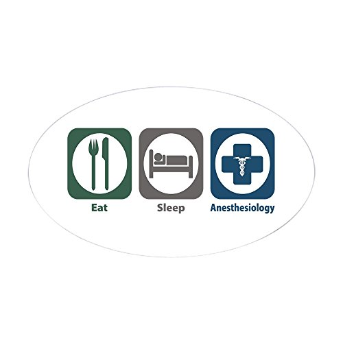 CafePress - Eat Sleep Anesthesiology Oval Sticker - Oval Bumper Sticker, Euro Oval Car Decal