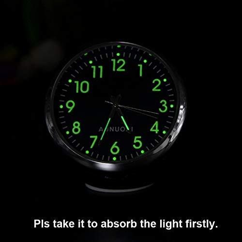 TOOGOO Mini Uhr Im Auto Luminova Mechanics Quarz Taktgeber Mini Auto Uhr Digital Auto Taktgeber Auto Uhr