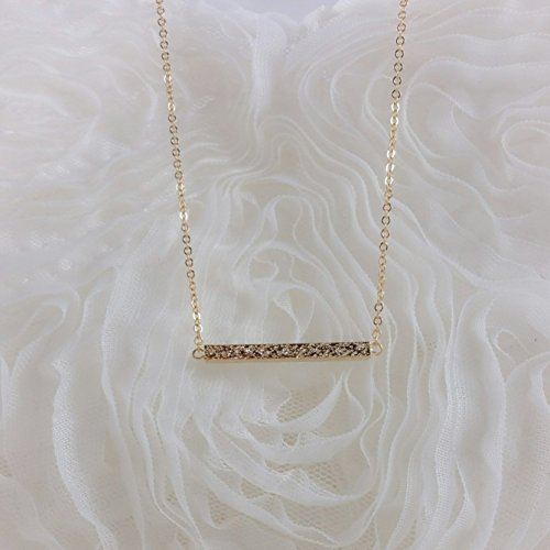 "Bridesmaid Gifts- Delicate Mini Bar Necklace (15"", Gold Color)"