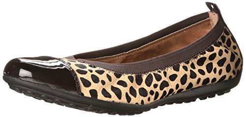 aller 41 Ballet Flat, Camel/Coffee, 42 EU/11 M US (Geox Leather Flats)