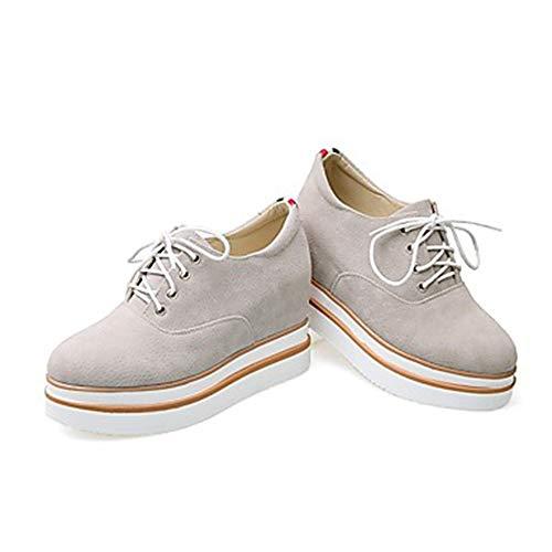Noir US6 Polyuréthane CN36 Gray Plat Basket Printemps Chaussures EU36 Gris Talon Femme UK4 Été TTSHOES Confort q71z41w