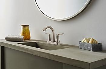 Pfister Weller LG48WR0K Centerset Bath Faucet, Nickel Finish, Brushed