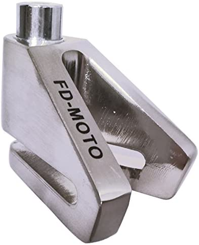 FD-MOTO FD103 Zinc Security Bike Bicycle Scooter Motorbike Motorcycle 6MM Brake Disc Lock Chrome Free 1.5m Reminder Cable
