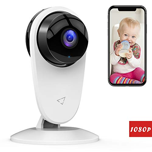 by Monitor 1080P FHD Home WiFi Security Camera Sound/Motion Detection with Night Vision 2-Way Audio Cloud Service Available Monitor Baby/Elder/Pet Compatible with iOS/Android ()