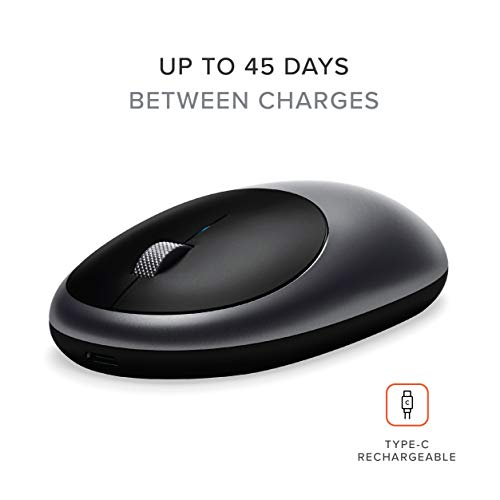 Satechi Aluminum M1 Wireless Mouse with Rechargeable Type-C Port