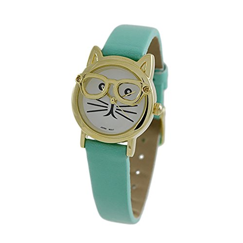 Rosemarie Collections Women's Crazy about Cats Watch (Aqua - Watches Sale Macy's