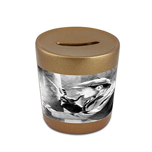 Money box with Basil Rathbone as Sherlock Holmes.