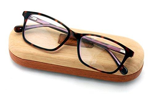 Rectangular RX'Able Acetate Non-prescription Glasses Frame Clear Lens Eyeglasses (Purple)
