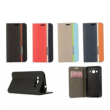 Retro Fashion Deluxe Leather flip Wallet Stand Case For Galaxy Core 2/Ace 4/Win/Grand 2/Core Prime/Ace 3/Trend Duos ( Color : Beige , Compatible Models : Galaxy Core Prime )