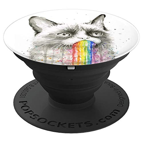 Colorful Cat (Watercolor Colorful Cat Pop Mount Socket Phone - PopSockets Grip and Stand for Phones and Tablets)