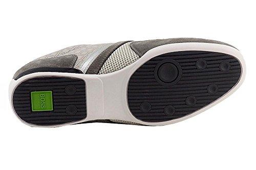 Hugo Boss Mens Akeen Sneakers Grigio Scuro Scarpe Grigio Medio