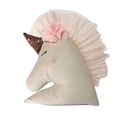 SewCraftCook Unicorn Sewing Kit for Kids | 11x11in, Ages 6-13 | Craft Supplies for Machine, Linen | Stuffed Animal Embroidery Set | Educational Arts and Crafts for Girls, Adults | Sewing Project Kit ()