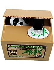Peradix Panda Money Box Animal Stealing Coin Piggy Bank Money Saving Box with Voice for Kids and Adults (Panda)