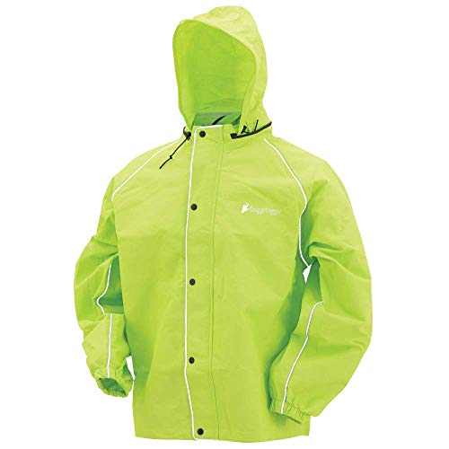 Frogg Toggs Road Toad Reflective Jacket, Hivis Green, Size -