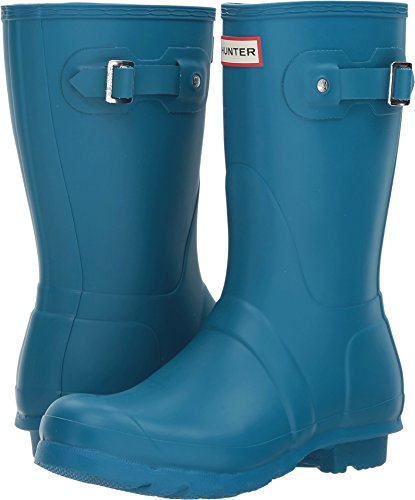 Hunter Womens Original Short Ocean Blue Rain Boot - 8 B(M) US