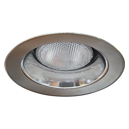 Eco Lighting NY HV5002CH/SN 5-Inch Line Voltage Trim Recessed Light fit Halo/Juno, Open Reflector Trim, Reflector: Chrome, Ring: Satin Nickel