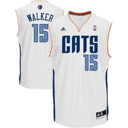 Kemba Walker #15 Charlotte Bobcats NBA Youth Home White Jersey (Youth Small 8) (Charlotte Bobcats Jersey)