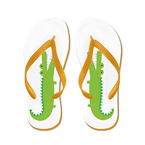 CafePress Alligator - Flip Flops, Funny Thong Sandals, Beach Sandals Orange