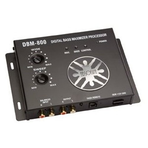Bass Maximizer - Absolute DBM800 Digital Bass Maximizer with Dash Mount Remote