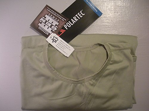(GI ECWCS Gen lll Level 1 Underwear Top Sand Polartec Power dry Silkweight (Large Long) )