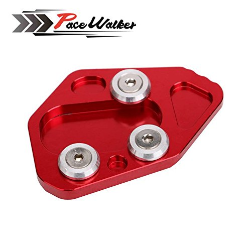 CNC Kickstand Side Stand Plate Pad Enlarger Extension for BMW F800R 09-14 R1200S 06-08 HP2 Sport 08-10