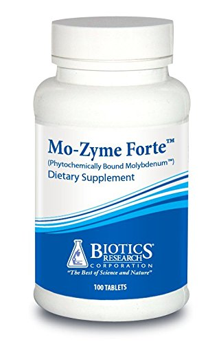 Biotics Research Mo-Zyme Forte™ – Molybdenum 150 mcg, Liver Support, Detoxification, Essential Trace Element, Healthy Metabolism, Antioxidant Support 100 Tablets