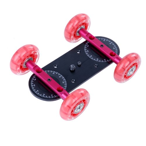 Movo Photo CD100 Professional Cine Skater Table Dolly Video Stabilizer for DSLR Video Cameras - Mini by Movo