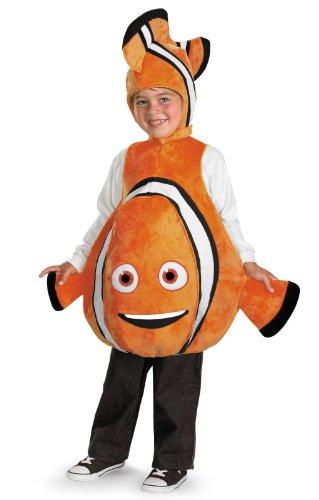 [Disney Finding Nemo Costume, Orange/Black, size S/P(4-6)] (Halloween Costumes Disney)