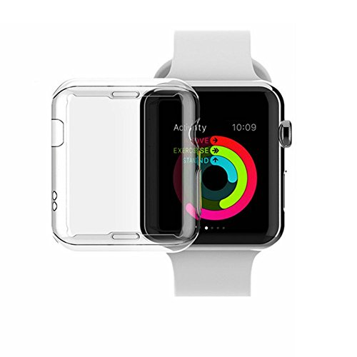 For Apple Watch Series 3 / Series 2 Case, Kanical Soft TPU Clear iWatch Cases All-around Protective Cover for Apple Watch Series 2 Series 3 (42mm)