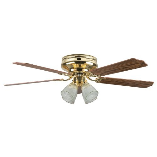 Concord Fans Montego Bay Deluxe Ceiling Fan with 4 Light (Brass Deluxe Ceiling Fan)