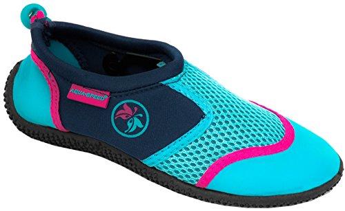 Aqua Schuhe 14D Neopren Set Navy Poolschuhe Badeschuhe Türkis Kinder Jugendliche Aqua Herren Mikrofaserhandtuch MODELL Damen Pink Speed tqrqxR